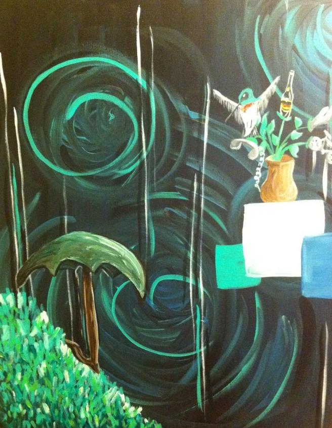 green-hummingbird-painting